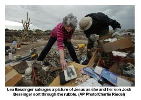Woman finds Jesus Pic