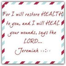 God restores health